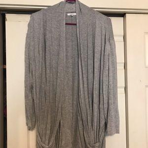 Long gray cardigan